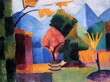 August MACKE GIARDINO sul Lago di Thun Old Master Arte Pittura Stampa 270oma