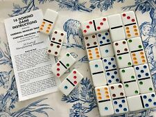Cardinal Double 6 Color Dot Mexican Train Dominoes in case NWOT w/instructions