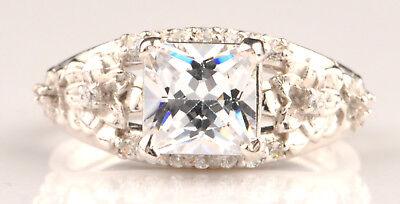 Uhren & Schmuck Diamanten 925er Sterling Silber 2,40kt Atemberauben Prinzessin Form Solitär Verlobung Ring