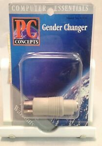 Keyboard-AT-DIN-5-Male-to-PS2-Mini-DIN-6-Female-Converter-Adapter-gender-changer