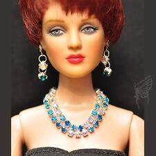"handmade Tonner Tyler 16"" doll jewelry set necklace+earring for Tonner dolls"