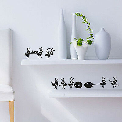 Removable Wall Stickers Cartoon Ant On Mirror Window Stickers Home Decoration
