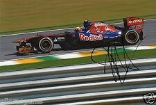 "Formula One F1 Driver Jaime Alguersuari Red Bull Hand Signed Photo 12x8"" A"