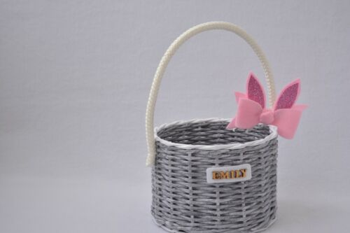 Easter Basket Stuffers Personalized Girl Bunny Wicker Lot Canvas Holiday New Bag