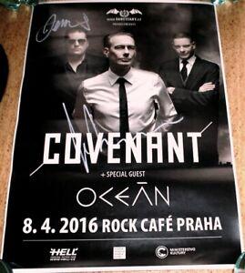 Covenant - Eskil Simonsson & Daniel Jonasson signed original poster (30cm x 42cm