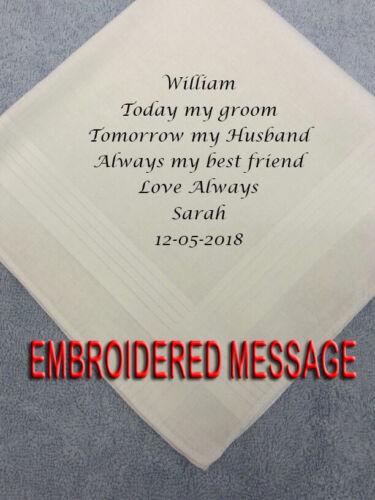 Mariée à Mari personnalisé homme mouchoir Pack Cadeau de Mariage Interracial Pres
