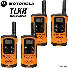 4 X Motorola tlkr T41 2 manera Walkie Talkie Set PMR 446 Radio Kit de Orange Twin Pack