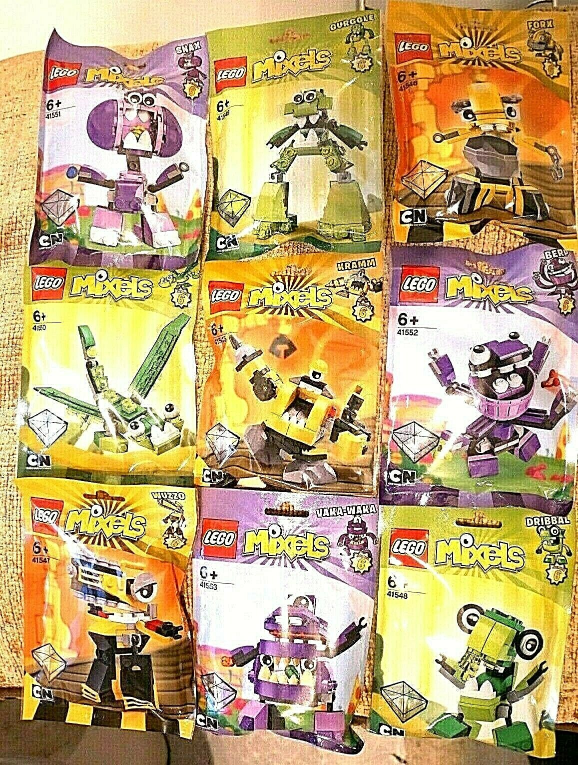 LEGO MIXELS serie 6 COMPLETE SEALED SET - LEGO 41545 TO 41553 (ALL 9)  NEW