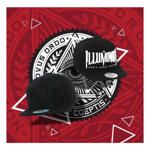Unisex Mens Womens Illuminati Eye Baseball Cap Hiphop Snapback Hats Gray