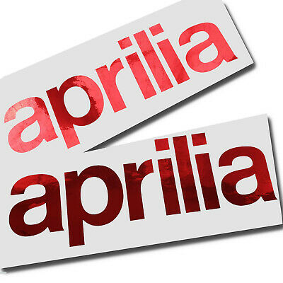 Aprilia Italian flag text Motorcycle graphics stickers decals x 2PCS LARGE SIZE