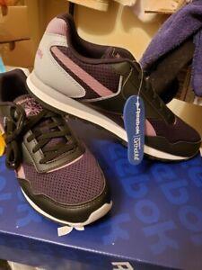 Reebok-Harman-Women-039-s-Running-Shoe-Black-Purple-Size-8