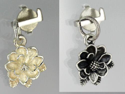 Anhänger  Silber  Blumen Magnolien blühen magnolie flower