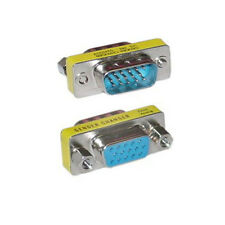 15Pin HD VGA SVGA Male to Female Gender Changer Adapter connector