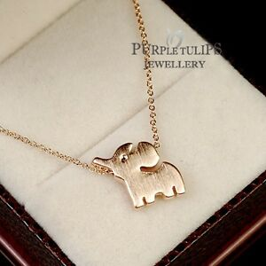 18ct rose gold plated cute little elephant pendant necklace for image is loading 18ct rose gold plated cute little elephant pendant aloadofball Gallery