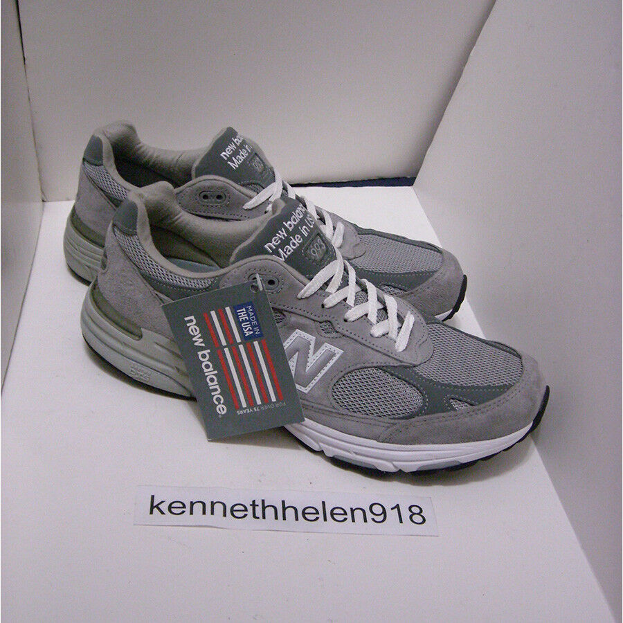 NEW BALANCE 993 MADE IN USA MR993GL CLASSIC RUNNING SHOES GREY MENS SZ 10.5 (2A)