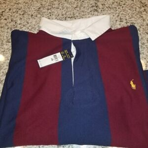 ***4XLT***Polo Ralph Lauren Men/'s Stripe Iconic Rugby Classic Fit Polo Shirt