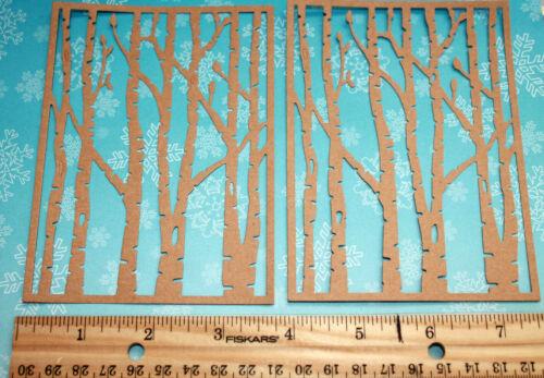 4 BIRCH TREES paper die cut embellishment *FreeShipPromo* card making