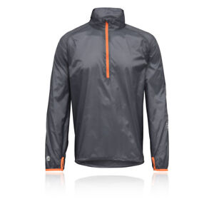 Higher-State-Ultra-Lite-Smock-Herren-Orange-Grau-Trail-Wasserfest-Jacke
