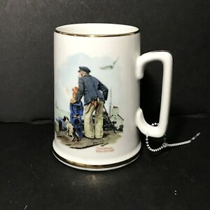 5c2c5991799 Details about 1985 Norman Rockwell Museum Mug Coffee Cup Mug Looking Out to  Sea Old Man & Boy