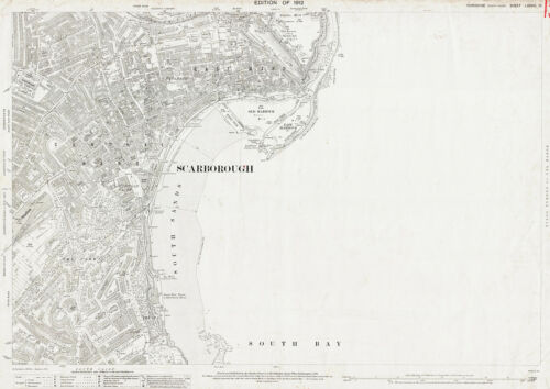 east Scarborough Yorkshire map 78-13-1912