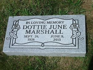 Granite Headstone Marker 24 X 12 X 4 Sawn Edges Includes Engraving Ships Free Ebay
