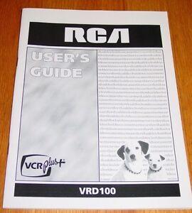 rca vrd100 video cassette recorder vcr instruction user s manual ebay rh ebay com Sony VCR GE VCR