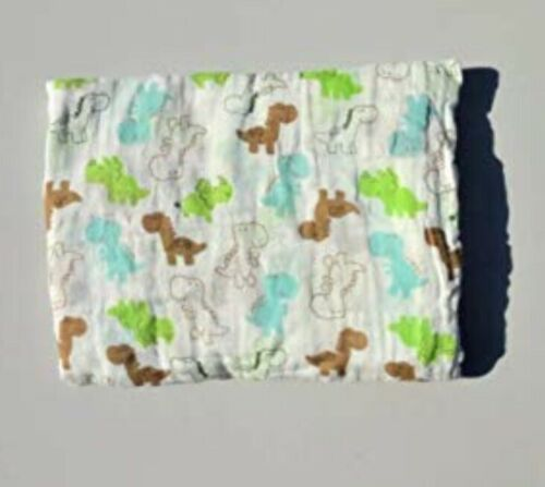 Baby Muslin swaddle wrap blanket 100/% Organic Cotton 150 X 100 cm Pack  Of 2