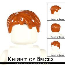 LEGO Minifigure Dark Orange Hair 62810 boy wig Short Tousled w// Side Part 10194