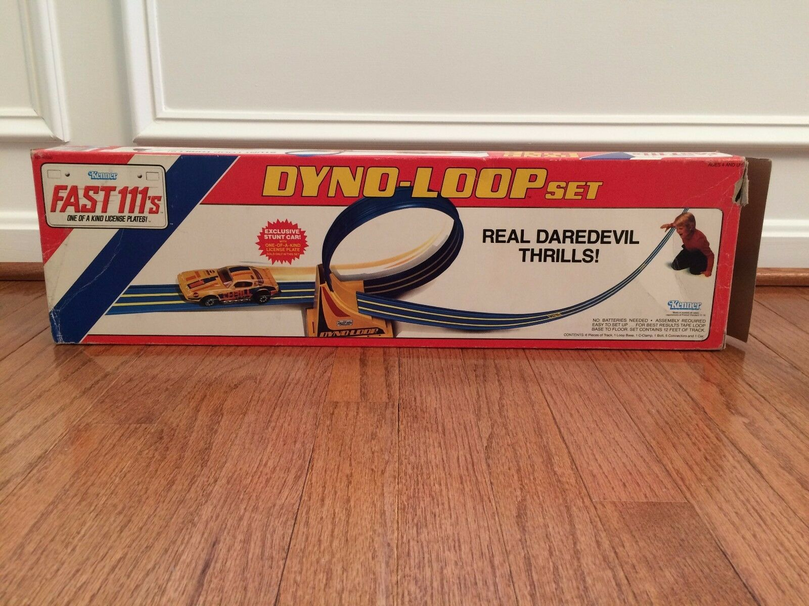 1981 Vintage (Kenner)  FAST 111's  (Dyno-Loop) Racing Racing Racing Set, With BOX  RARE  09d535
