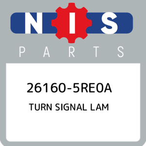 26160-5RE0A-Nissan-Turn-signal-lam-261605RE0A-New-Genuine-OEM-Part