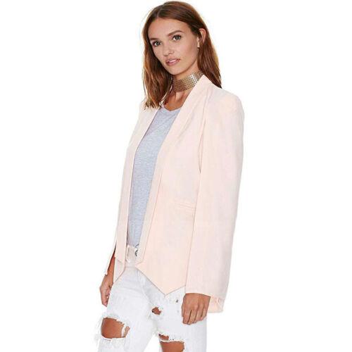 Fashion Women Open Split Long Sleeve-Cape-Blazer Jacket Casual Poncho Suit Coat