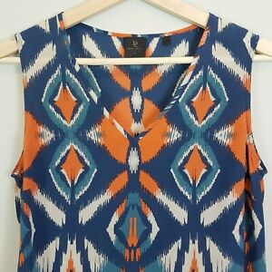 DAVID-LAWRENCE-Womens-Silk-Print-Blouse-Top-Size-AU-8-or-US-4