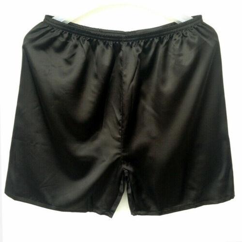 Homme Touché Soie Sous-Vêtement Shorts Satin Caleçon Boxer Slip Slips Pyjama