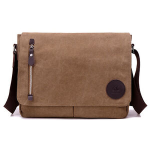 335fd088f Image is loading Men-Canvas-Vintage-Messenger-Bag-Business-Handbags-Casual-