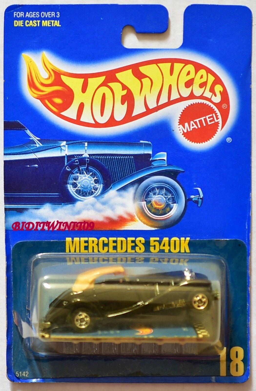 HOT WHEELS 1989 blueE CARD MERCEDES 540K W+