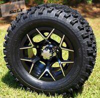 Golf Cart 12x 7 Eurosport Aluminum Wheels & 23 All Terrain Tires-set Of 4