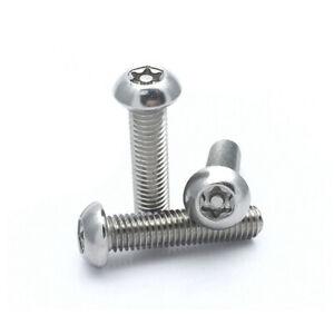 A2 304 SS Pin Torx Tamper Security Button Head Machine Screws Bolt M5 M6