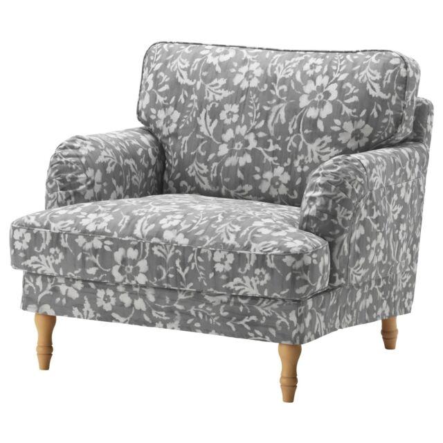 Ikea Bezug fur Stocksund Sessel - Hovsten Grau/Weiß 603.063.52