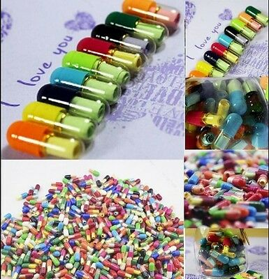 Brand New 50 Pcs Popular Message Capsule Adorable Pills Special Collections