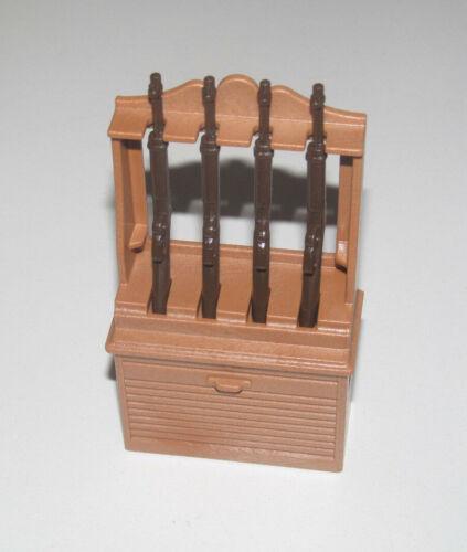 4 Carabines Winchester NEW Playmobil Accessoire Décor Cowboy Meuble à Fusil