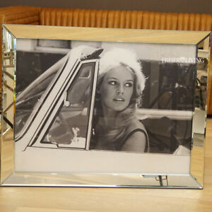 Wandbild Brigitte Bardot engerahmt Spiegelrahmen Foto Legende Auto Cabrio Deko