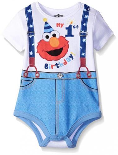 Sesame Street Infant Boys Elmo My First Birthday Creeper Size 9M 12M 18M