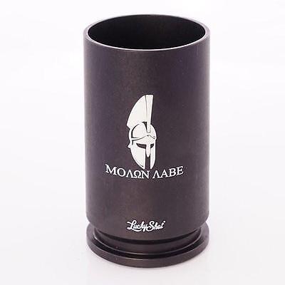 "Spirit Shot Glass- 30mm A-10 Casing- ""Molon Labe"""