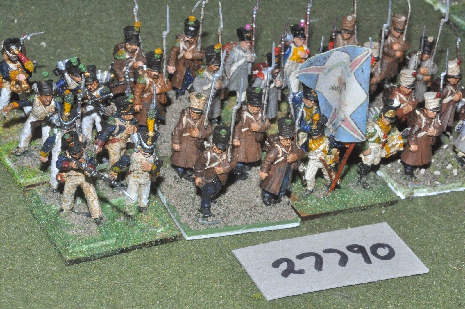 25mm napoleonic   french - - - regiment (plastic) 32 figures - inf (27790) d501ea