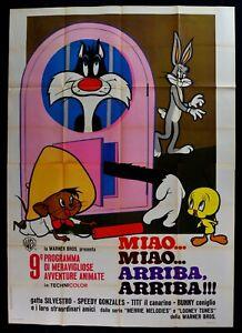 Werbeplakat Miao Arriba Merries Melodien Looney Tunes Silvester M303