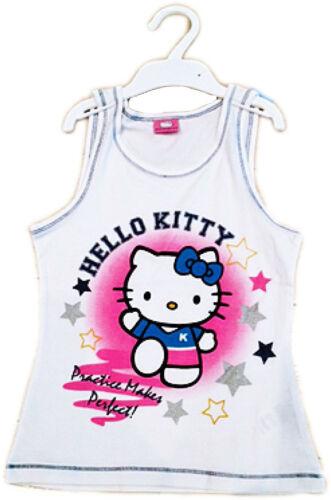 """Ragazze Hello Kitty 'la pratica rende perfetti """"Estate Canotta 3 anni a 10 anni"""