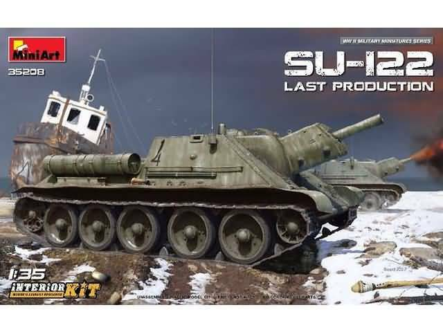 Miniart 35208 1 35th scale SU-122 (Last Production) with Interior