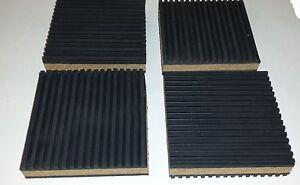 12 pack Anti Vibration isolation pad rubber//cork 4x4x7//8 HVAC Machinery  MP4C