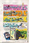 1983 Captain America Annual 7 page 13 Marvel Comics color guide art: 1980's