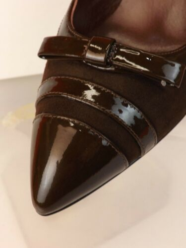 pumps 404700639186 Penpunt Brown lakleder 39 puntige Jacobs teen 5 door Suede Marc Bow GqSMVUzp